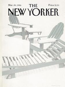 The New Yorker Cover - March 24, 1986 by Gretchen Dow Simpson
