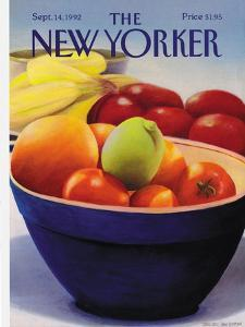 The New Yorker Cover - September 14, 1992 by Gretchen Dow Simpson