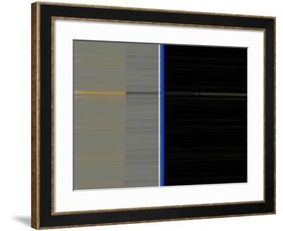 Grey and Black-NaxArt-Framed Art Print