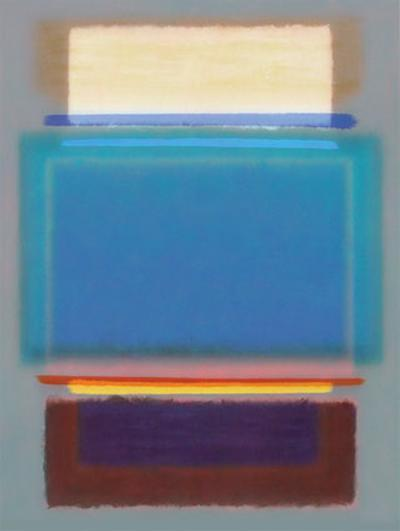 Grey and Blue-Klaus Holitzka-Art Print
