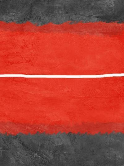 Grey and Red Abstract 2-NaxArt-Art Print