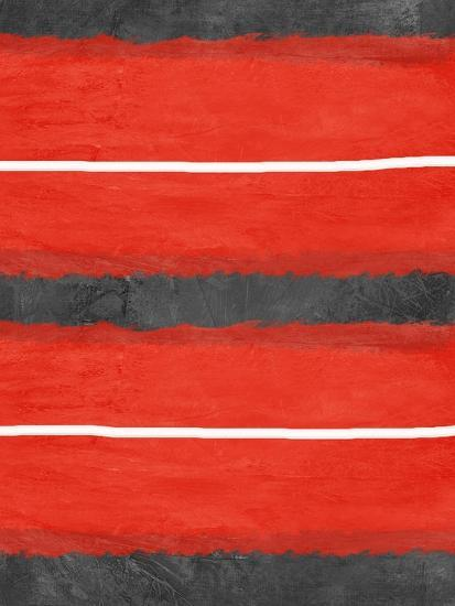 Grey and Red Abstract 3-NaxArt-Art Print