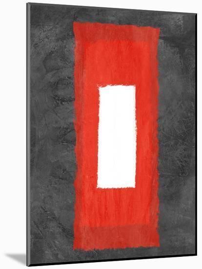 Grey and Red Abstract 4-NaxArt-Mounted Print