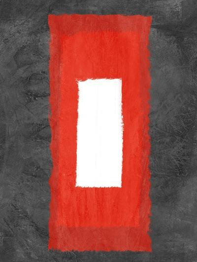 Grey and Red Abstract 4-NaxArt-Art Print