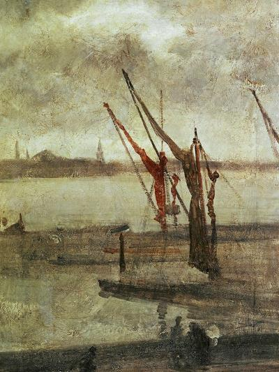 Grey And Silver: Chelsea Wharf, Ca. 1864-1868-James Abbott McNeill Whistler-Giclee Print
