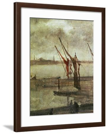 Grey And Silver: Chelsea Wharf, Ca. 1864-1868-James Abbott McNeill Whistler-Framed Giclee Print