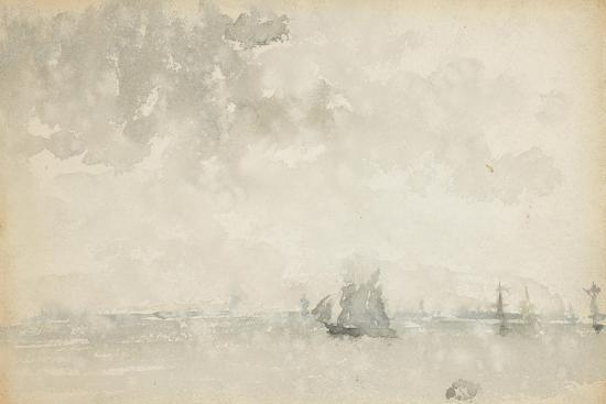 Grey and Silver - North Sea, C.1884-James Abbott McNeill Whistler-Giclee Print