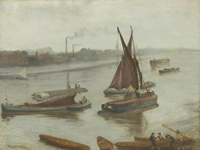 Grey and Silver: Old Battersea Reach, 1863-James Abbott McNeill Whistler-Giclee Print
