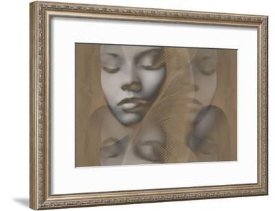 Grey Beauty-NaxArt-Framed Art Print