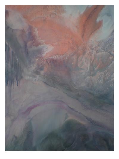 Grey Highlighed by Purple-Deb McNaughton-Art Print
