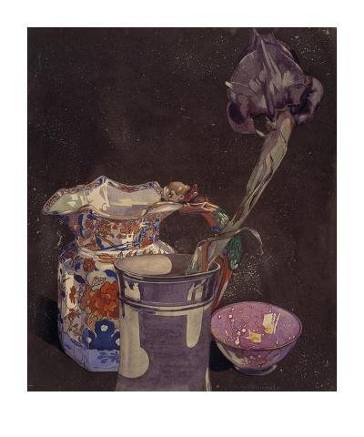 Grey Iris-Charles Rennie Mackintosh-Art Print
