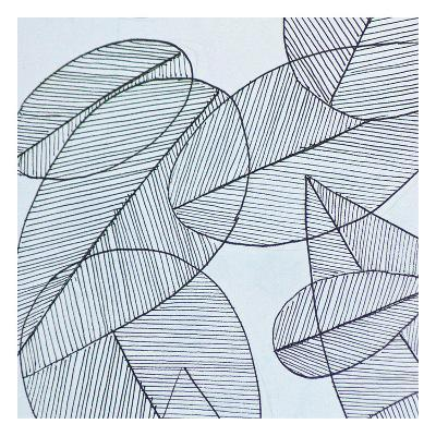 Grey Leaf-Pam Varacek-Art Print