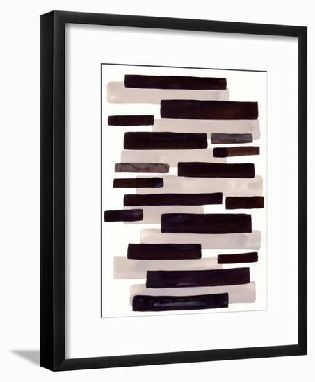 Grey Primitive Stripe-Ejaaz Haniff-Framed Art Print