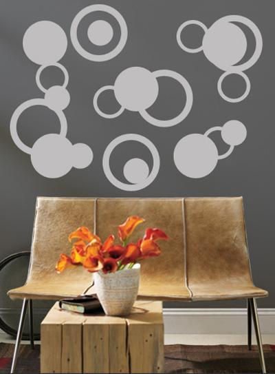 Grey Rings--Wall Decal