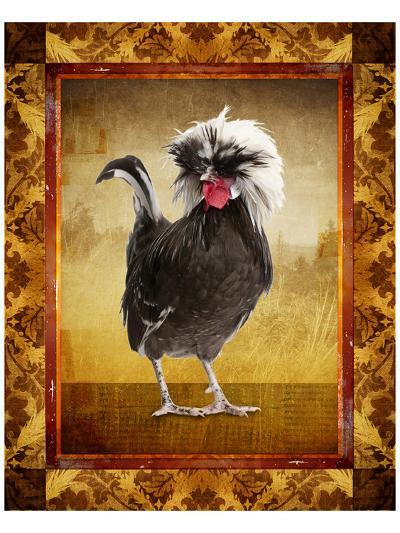 Grey Rooster--Art Print