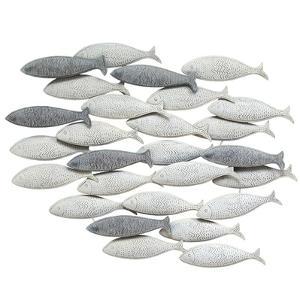 Grey School of fish