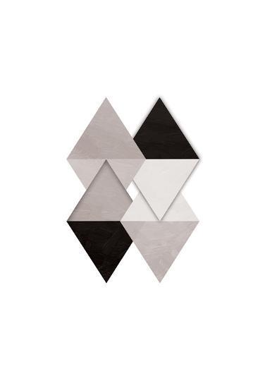 Grey Simplicity-OnRei-Art Print