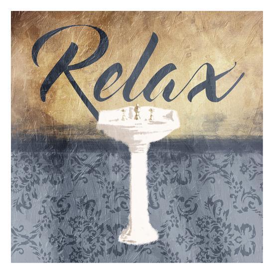 Grey Slate Relax-Jace Grey-Art Print