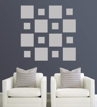 Grey Squares--Wall Decal