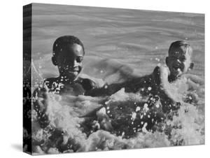 Boys Playing Together Near Johannesburg by Grey Villet