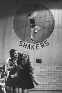 Cheerleaders Cheering for a High School Basketball Game by Grey Villet