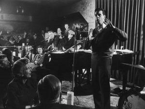 Comedian Mort Sahl Entertaining at a Night-Club Called 'Mister Kelly'S', Chicago, Illinois, 1957 by Grey Villet