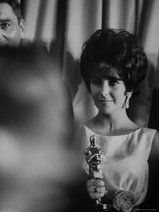 Elizabeth Taylor Winning an Oscar by Grey Villet