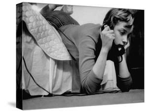 Ginny Nyvall Talking on the Phone by Grey Villet