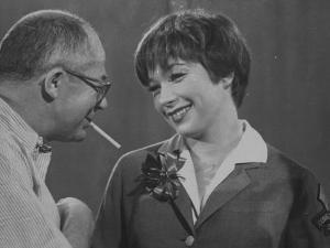 Movie Director Billy Wilder with Actress Shirley MacLaine on Set During Filming of The Apartment by Grey Villet