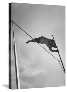 Pole Vaulter Don Bragg Setting World Pole Vault Record by Grey Villet