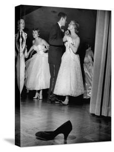 Sally Nyvall and Dick Gaudette Improvise on Dance Floor while Sue Nyvall Gazes at Mike Murphy by Grey Villet