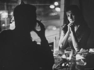 Starlet Ann Margret Olson Dining at the Har Omar American Restaurant by Grey Villet