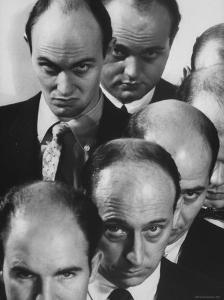 The Bald Heads of Relatively Young Men by Grey Villet