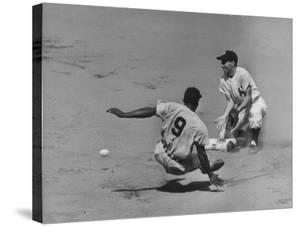 Yankee Phil Rizzuto Waiting to Catch the Ball During the American League Pennant Race by Grey Villet