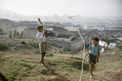 Young Boys Flying Kites in Durban, Africa 1960