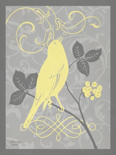 Grey & Yellow Bird III-Gwendolyn Babbitt-Art Print