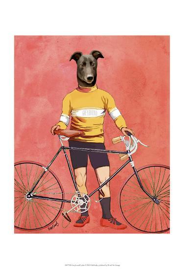 Greyhound Cyclist-Fab Funky-Art Print