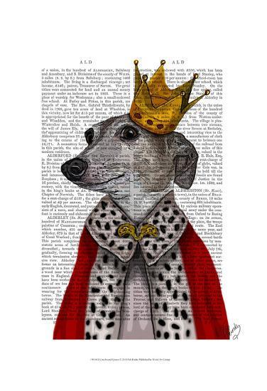 Greyhound Queen-Fab Funky-Art Print