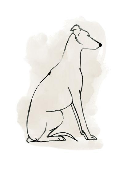 Greyhound Sketch I-Grace Popp-Art Print
