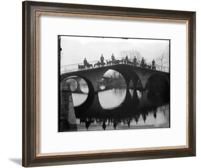 Greyhounds on a Bridge--Framed Photographic Print