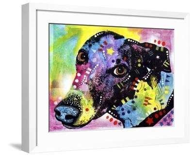 Greyt, Dogs, Greyhound, Pets, Look up, Begging, Pop Art, Colorful, Stencils-Russo Dean-Framed Giclee Print