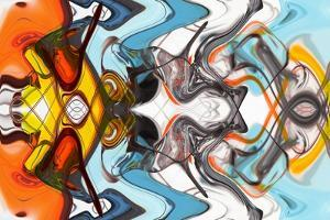 Art Abstract Multi-Colored Pattern Background by Grezova Olga