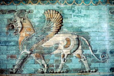 Griffin-Lion Relief in Glazed Brickwork, Achaemenid Period, Ancient Persia, 530-330 Bc--Photographic Print