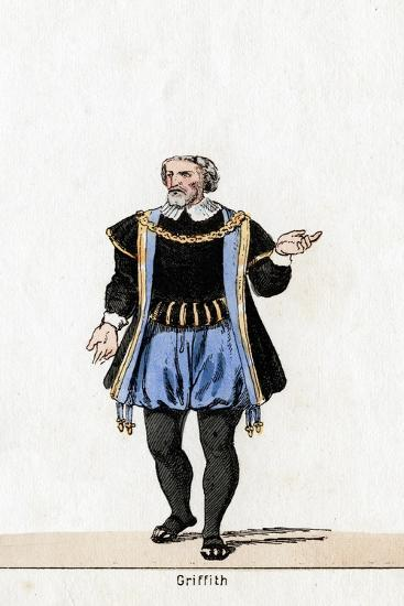 Griffith, Costume Design for Shakespeare's Play, Henry VIII, 19th Century--Giclee Print