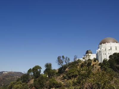 Griffiths Observatory and Hollywood Sign in Distance, Los Angeles, California, USA-Kober Christian-Photographic Print