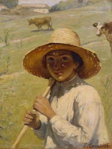 Shepherd Boy, 1909 by Grigori Grigoryevich Myasoedov