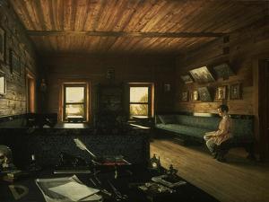 Arbeitszimmer Im Haus in Ostrowki, dem Landgut Von N.P.Miljukow, 1844 by Grigorij Wassiljew Soroko