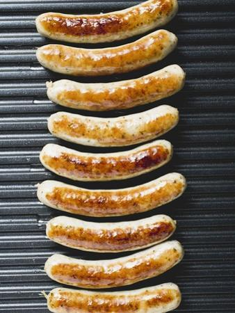 Grilled Sausages from Above
