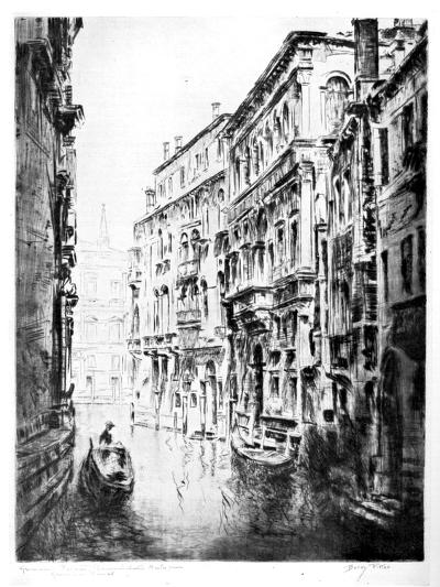 Grimari Canal, Venice, 1930-JF Barry Pittar-Giclee Print
