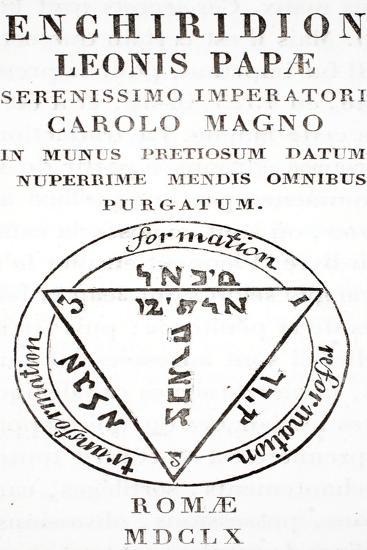 Grimoire of Pope Leo III--Giclee Print